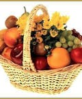 Fruit & Fresh Bright Daisies Basket